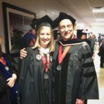 UA Graduation 2016. Gracie Riehm and advisor, Dr. John Blitz.