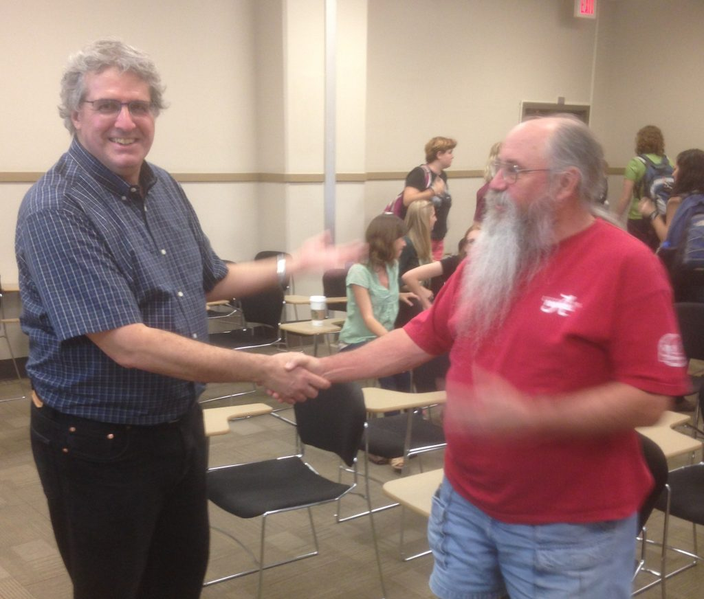Dr. Marshall Abrams meets Dr. Jim Bindon