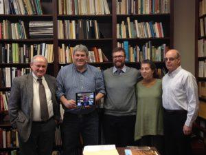 Daniel LaDu with committee members Ian Brown, Keith Jacobi, Kathy Oths, and Jim Knight.