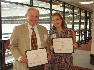Ian W. Brown and Sierra Lawson at the URCA luncheon for URCA winners 4-11-16.