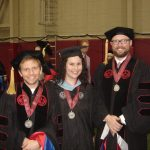 UA Graduation May 2016. Left to right: Dr. Paul N. Eubanks, Elizabeth Pratt Eubanks, and Dr. Daniel A. LaDu.