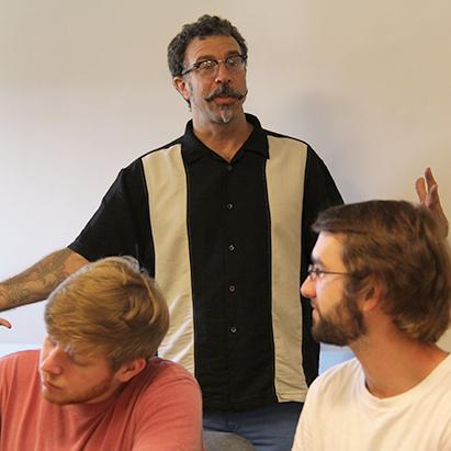 Professor Lynn teaching an undergraduate course